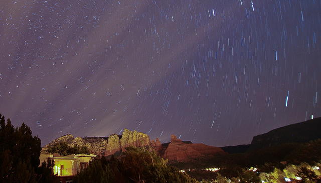 Sedona Night Sky closeup